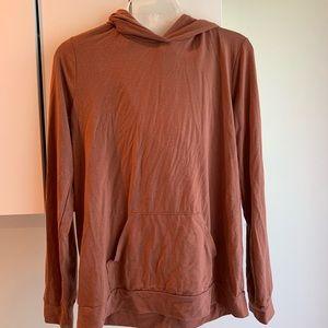 Light weight hoodie rust